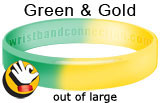 Green & Gold1 rubber bracelet