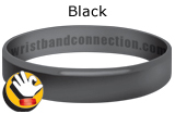 BLACK rubber bracelet