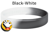 Black-White rubber bracelet