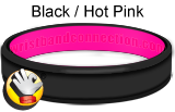 Black/Hot Pink - CC rubber bracelet