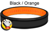Black Orange rubber bracelet