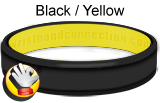 Black Yellow rubber bracelet