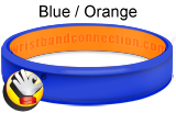 Blue Orange - CC rubber bracelet