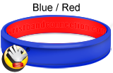 Blue Red - CC rubber bracelet