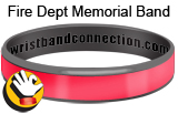 Thin Red Line rubber bracelet