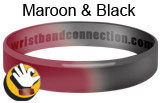 Maroon & Black wristband