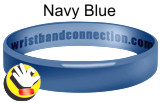 Navy Blue rubber bracelet