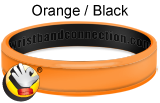 Orange/Black - CC rubber bracelet
