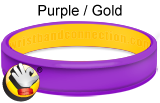 Purple Gold rubber bracelet