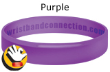Purple rubber bracelet