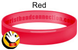 Red rubber bracelet