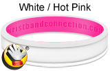 White Hot Pink rubber bracelet