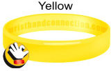 Yellow rubber bracelet