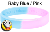 Baby Blue and Pink wristband