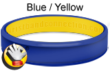 Blue / Yellow rubber bracelet