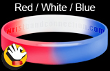 Red White Blue wristband