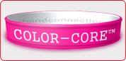 Color-Core Silicone Wristbands