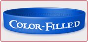 Color-Filled Rubber Wristbands