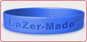 Lazer-Made Rubber Bracelets - laser engraved
